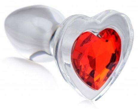 booty-sparks-analplugg-glas-hjärta